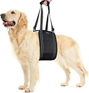 rabbitgoo Dog Sling for Large Dogs Hind Leg Support, Handle Adjustable Assist Lifting Hip Harness for Elderly Dogs, Soft Reflective Rehabilitation Pet Lifter for Dogs with Mobility Problems