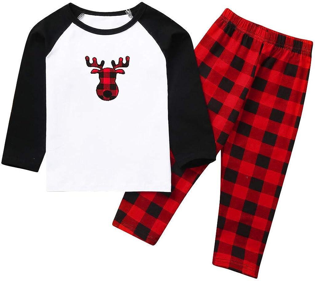Merry Christmas Santa Classic Plaid Matching Family Xmas Pajama Set HETde Christmas Pajamas for Family
