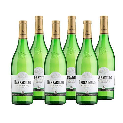 Vino blanco Castillo de San Diego de 75 cl - D.O. Tierra de Cadiz - Bodegas Barbadillo (Pack de 6 botellas)