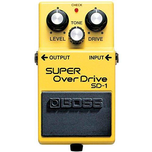 Boss SD-1 Super Overdrive Pedal + fuente de alimentación keepdrum 9 V