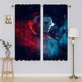 Cortinas opacas de ventana de Star Wars, cortinas de oscurecimiento de la habitación, cortinas para mantener el calor, juego de tratamientos de ventana para dormitorio de 163 x 1177 cm