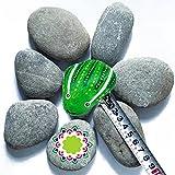 0.9kg7-9pcs 5-9cm guijarros,Playa Rocas,para Dibujar Rocas pintadas DIY,Jardin Decorativas