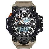 Reloj Militar para Hombre Deporte Relojes Analógico y Digital LED Electrónico Grande Relojes Resistente al Agua 50M