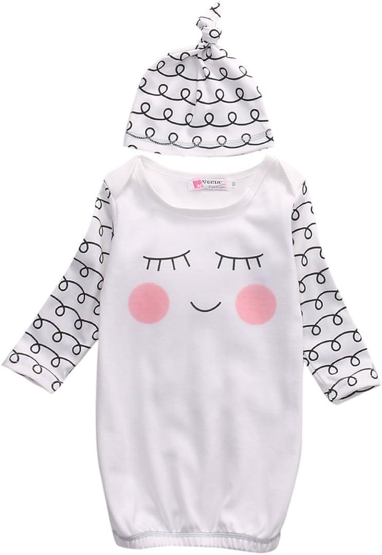 Cute Trust Newborn Baby Romper Sleepy Hat New sales I Eyes+Rosy Gown Cheeks