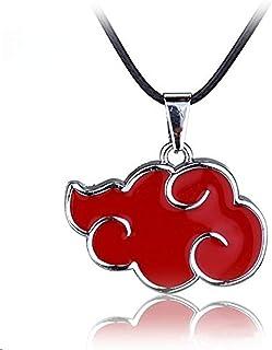 MUEKA Naruto Akatsuki Member Cosplay Red Cloud Shape Pendant Necklace