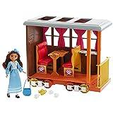 Spirit Vagón de tren de Lucky Set de juego con muñeca de juguete y accesorios de moda y viaje (Mattel GXF55)