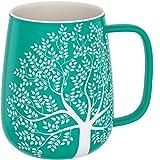 Amapodo, tazza grande in porcellana con manico, 600 ml, tazza jumbo, tazza da caffè, turchese, regalo per donne e uomini