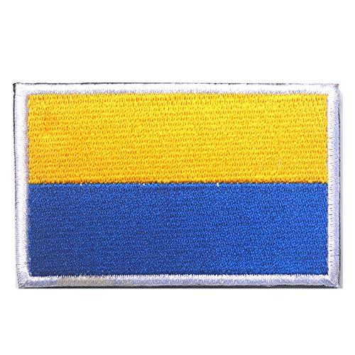 Aufnäher mit Ukraine-Flagge, bestickt, zum Aufbügeln oder Aufnähen, Motiv: taktische Militär, Moral, lustige Aufnäher, Applikationen mit Klettverschluss