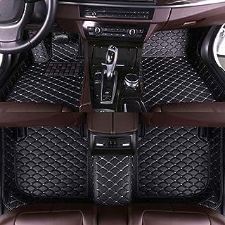 Muchkey Auto Fussmatten Fußmatten Set für BMW 3er 318i 320i 325i 330i 335i E90 E91 4 Türen 2008 2012 Allwetter Matte Wasserdicht Automatten Zubehör Schwarz & Beige 1 Set