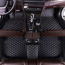 Custom Car Floor Mats Fit for Mercedes Benz CLS Class 200 250 260 300 350 400 500 Estate 4-Seat 2010 Full Coverage All Weather Protection Waterproof Non-slip Leather Liner Set Black With Beige Line
