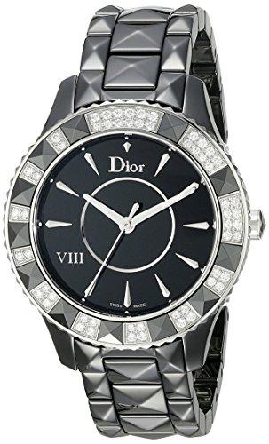 Christian Dior VIII Black Ceramic Diamonds Automatic Ladies Watch CD1241E0C001