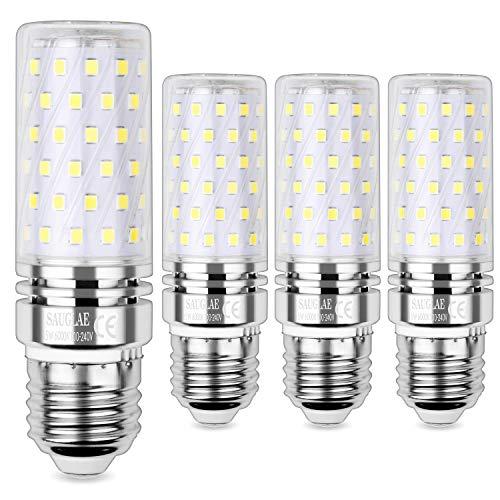 Sauglae E27 Bombilla de Maíz LED 15W, 6000K Blanco Frío, 120W Incandescente Bombillas Equivalentes, 1500Lm, Edison Tornillo Bombillas LED, 4-Pack