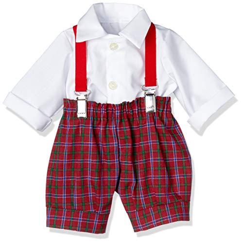 Poppenmode Storm 7081-2 broek met bretels en overhemd voor poppen, meerkleurig