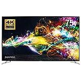 SUNRIZE サンライズ 4Kテレビ 4K 75型 75インチ 4K液晶テレビ 4K対応液晶テレビ 高画質 HDR対応 BS CS 地デジ 地上デジタル (ブラック)