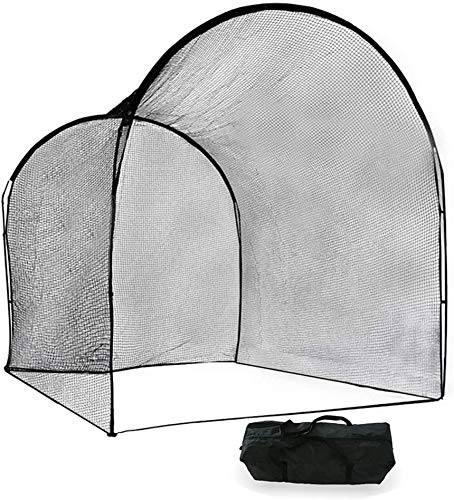 Kapler Baseball Batting Cage, Softball Batting Net Cage Backyard Training, with High Strength Steel Frame and Net, Great Outdoor Baseball Softball Training Cage Equipment 13' (L) X10' (D) X10' (H).