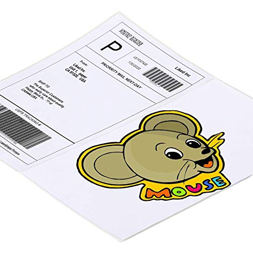 "L LIKED Half Sheet Self Adhesive Shipping Labels 8.5"" x 5.5"" Address Labels for Laser & Inkjet Printers (20 Labels)"