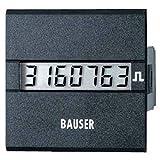 bauser 3811.2.1.7.0.2Contador de tiempo o de impulsos digitale- novedad. Solución Twin Dim. instalación 45x 45mm