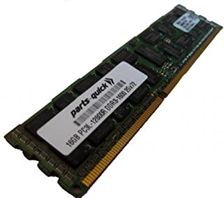 16GB DDR3 Memory Upgrade for Quanta STRATOS Motherboard S210-MBT2W Server PC3L-12800 1600MHz ECC Registered Low Voltage DIMM (PARTS-QUICK BRAND)