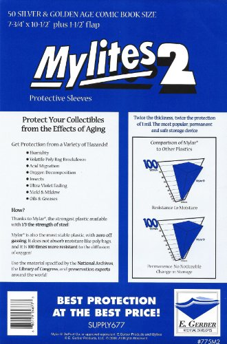Mylites 2 Mil Comic Book Silver & Golden Age Size 7 3/4' x...
