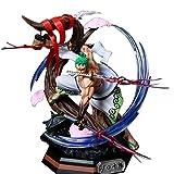Anime One Piece Gk Kimono Roronoa Zoro Santoryu Battle Statue 39Cm, Figura de acción Modelo Colección Juguetes Decoración de Escritorio Regalo Figma