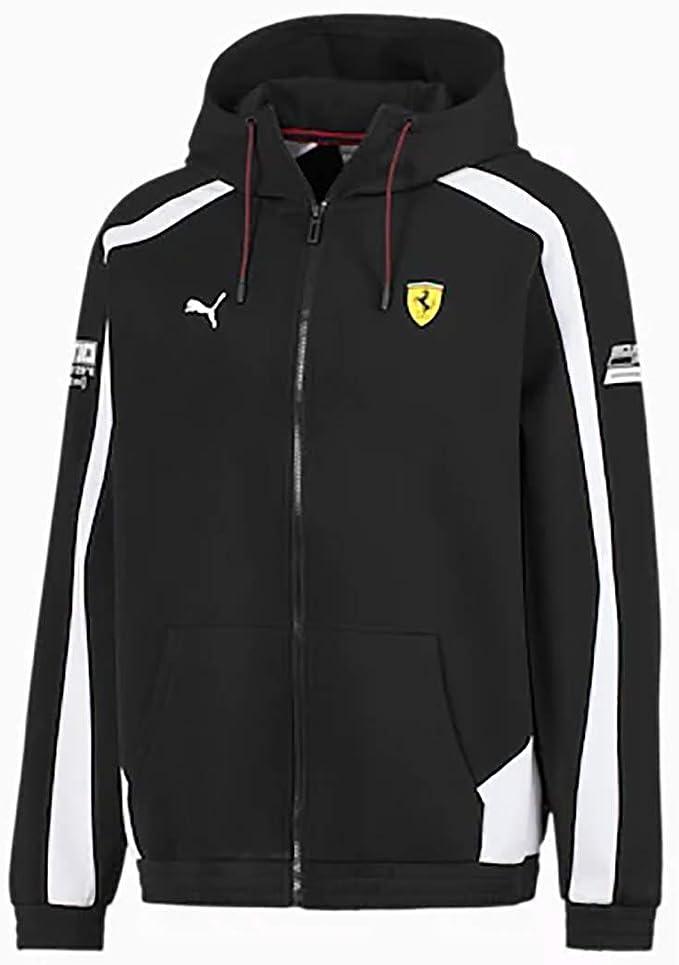 Puma Men S Scuderia Ferrari Hooded Jacket Clothing Amazon Com