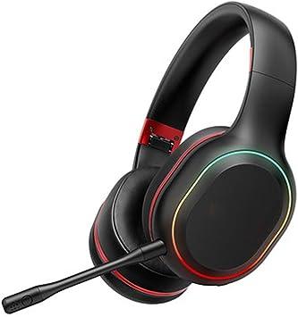 Auriculares inalámbricos Bluetooth con micrófono, para teléfono Celular, PC, TV, PC, Orejeras Suaves y Peso liviano para alargar-Red: Amazon.es: Electrónica