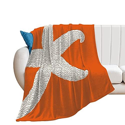Manta de forro polar Unise x para decoración de habitación de cama de 127 x 152 cm, estrella de mar, manta suave y cálida y acogedora, manta de microfibra de felpa para cuna de cochecito de bebé