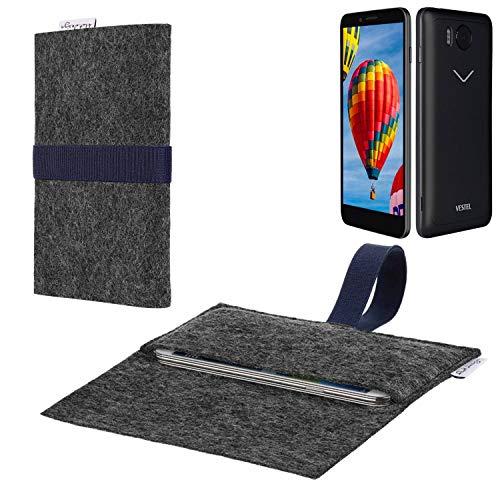 flat.design vegane Handy Hülle Aveiro für Vestel V3 5030 passgenaue Filz Tasche Case Sleeve Made in Germany