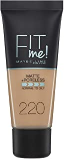 Maybelline New York Fit Me Matte & Poreless Face Foundation - 1.01 oz., 220 Natural Beige