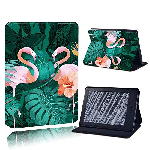 BHTZHY Moda Voor Amazon Kindle 8/10Th 2016 2019 / Paperwhite 1/2/3/4 Gedrukt Flamingo Tablet Lederen Lector Stand Folio Shockproo Funda De Cubierta,Azul,Paperwhite4 10Th Gen