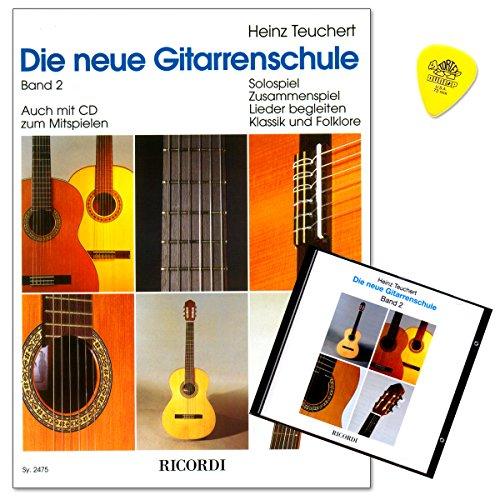 Die neue Gitarrenschule von Heinz Teuchert Band 2 - systematische Weiterführung im Gitarren-Solospiel, im Liederbegleiten und im Zusammenspiel in den Stilbereichen Klassik und Folklore - CD, Plek