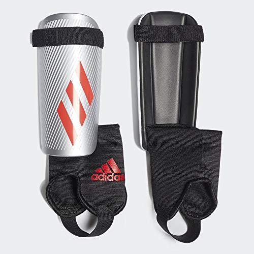adidas Jungen X Youth Schienbeinschoner für Fußball, Silver met./hi-Res red s18/black, S