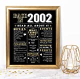 Katie Doodle 18th Birthday Decorations Gifts for Girls Boys - Includes 8x10 Back in 2002 Sign...