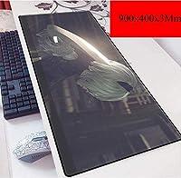 ゲーミングマウスマットラージマウスマットカスタムプロフェッショナルマウスパッド、ステッチエッジ、デスクカバー、コンピュータのキーボード、PCやラップトップに最適 (Color : B)