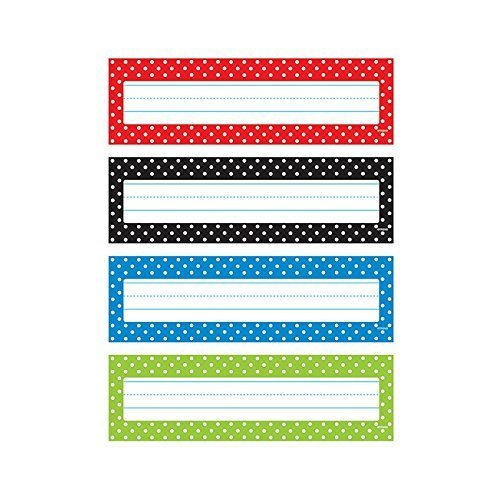 Polka Dots Desk Toppers Name Plates VPk by Trend