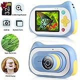 Koolertron Kamera Kinder Digital Kamera für Kinder, Kinderkamera mit Mikroskopfunktion 200X Lupe Digitalmikroskop Kindervideokamera 15-Megapixel-4K-Kamera mit 32 GB TF, Blau