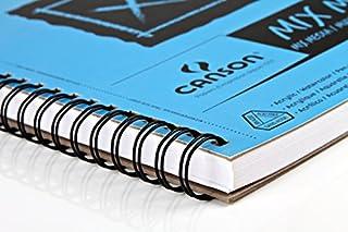 عروض Canson 100510929 XL Series Mix Paper Pad, Heavyweight, Fine Texture, Heavy Sizing for Wet and Dry Media, Side Wire Bound, 98 Pound, 11 x 14 in, 60 Sheets, 11