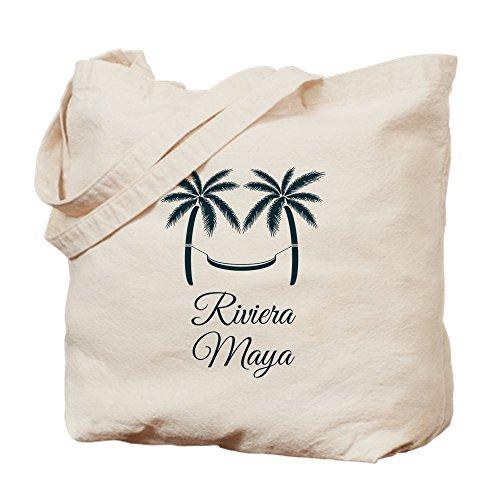 CafePress–Palmen Riviera Maya T-Shirt–Leinwand Natur Tasche, Reinigungstuch Einkaufstasche, canvas, khaki, M