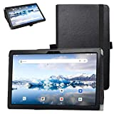 Bige for TECLAST P20HD Tablet Case,PU Leather Folio 2-Folding Stand Cover for 10.1' TECLAST P20HD /TECLAST M40 Tablet,Black