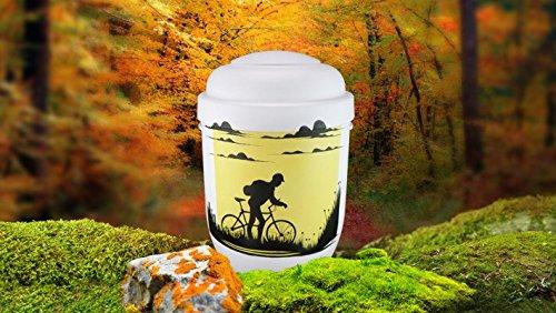 Biologisch abbaubar Verbrennung Asche Urne–Erwachsene Größe–Silhouette Design–Mountain Biking