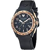 Swiss Eagle SE-9061-05 Orologio da Polso Cronografo da Uomo, Cinturino in Silicone, Colore Nero