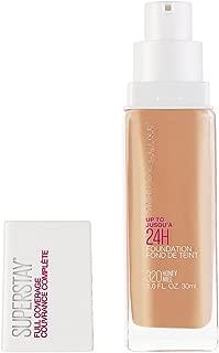 Maybelline Super Stay Full Coverage Liquid Foundation Makeup, Honey, 1 Fl Oz