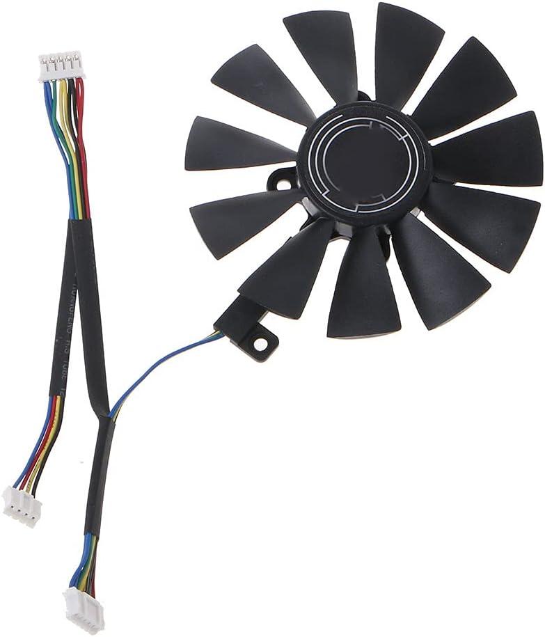 chaoxiner Ventilador para tarjetas gráficas FDC10U12S9-C, 88 mm, silencioso, refrigerador GPU para portátil Gigabyte GTX 1050 1060 1070 960 RX 470 480 570 580
