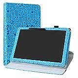 Labanema Acer Iconia One 10 B3-A50 Funda, Rotación de 360 Grados Carcasa con Función de Stand Soporte Cover para 10.1' Acer Iconia One 10 B3-A50 Tablet - Azul