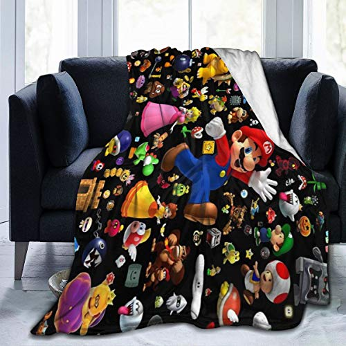 Super-Mario Blanket Ultra Soft Flannel Fleece Oversized Warm...