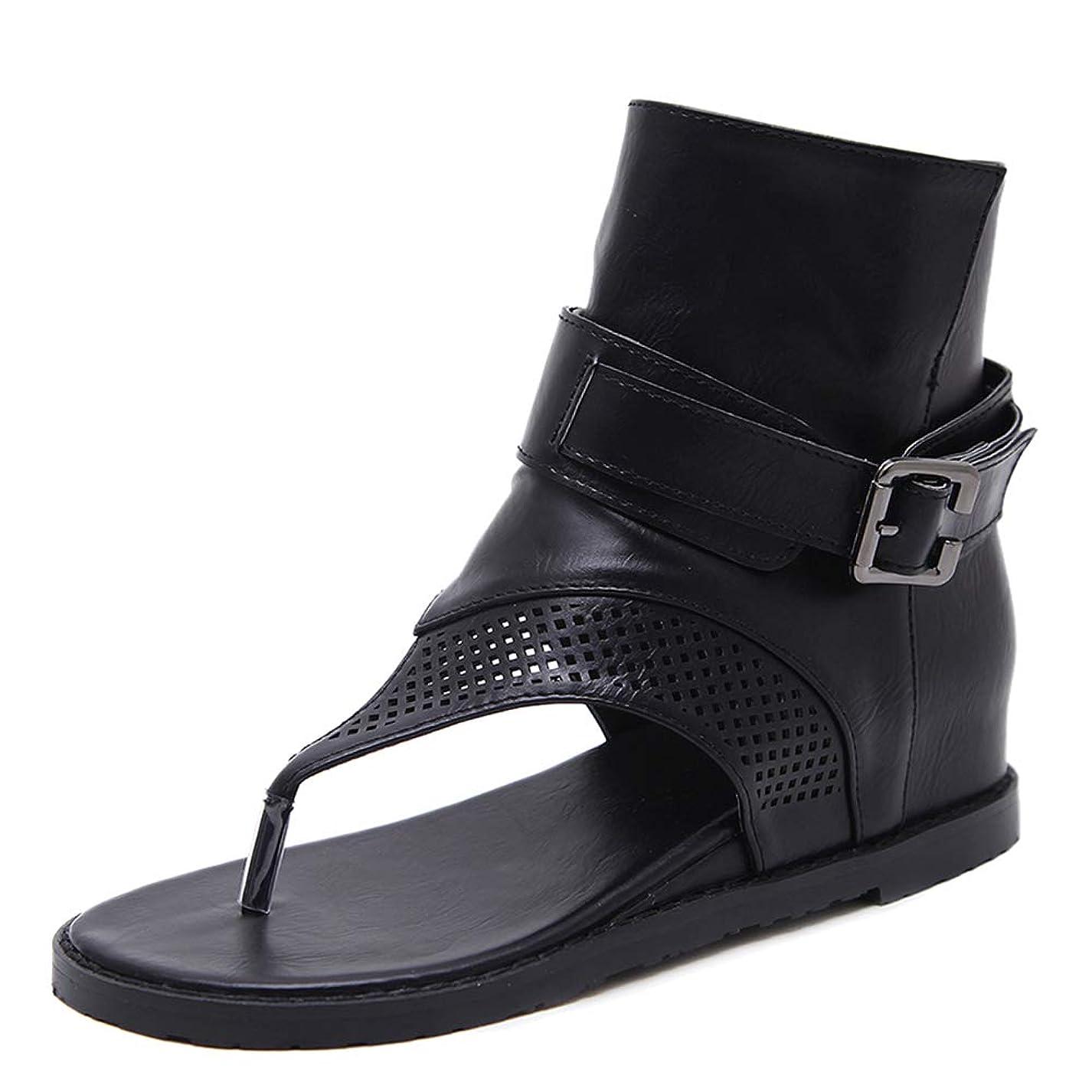 出席するフェロー諸島乳製品[Melady] レディース クラシック 夏靴 ハイトップ グラディエーター サンダル