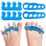 Premium Gel Toe Separators, Straighteners & Spacers | Hammer Toe & Bunion Corrector For Men & Women | Use for Pedicure, Yoga & Running (US Shoe Size 10 & Above)