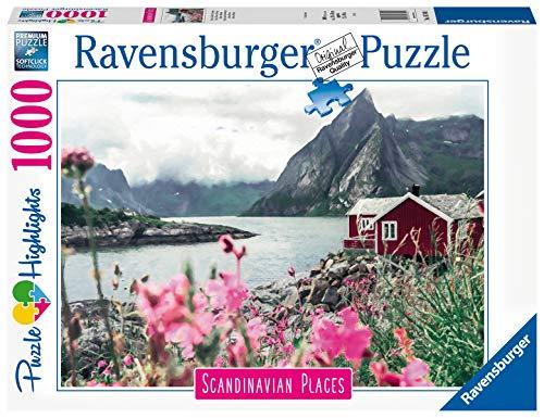 Ravensburger Puzzle, Puzzle 1000 Pezzi, Lofoten, Puzzle per Adulti, Collezione Scandinavian Places, Puzzle Paesaggi, Puzzle Ravensburger - Stampa di Alta Qualità