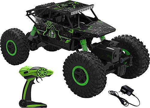 AJUDIYA ENTERPRISE Plastic 1:18 Rechargeable 4Wd 2.4GHz Rock Crawler Off Road R/C Car Monster Truck Kids Toys | Remote Control Cars for Kids- Pack of 1, Multicolor