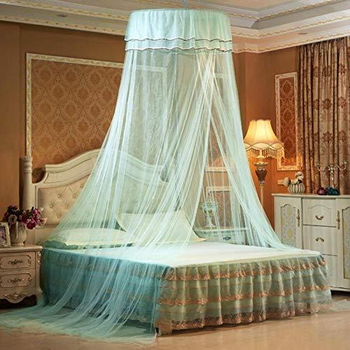 Omabeta Poliéster Decorativo Cama Transpirable Mosquitera Encaje Cortina Plegable Dormitorio Hogar Babyroom...